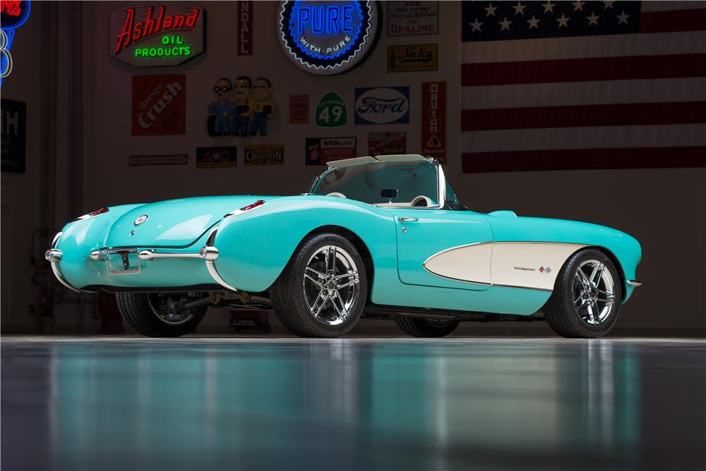 Stunning 1957 Chevy Corvette Restomod at Barrett Jackson