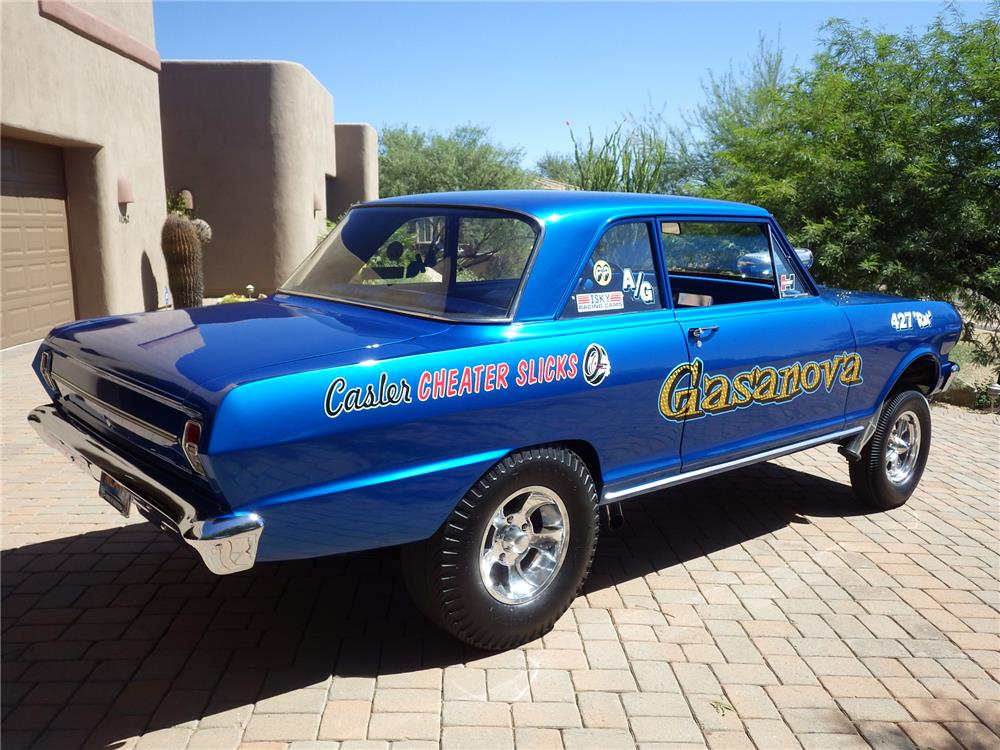 1964 Chevy Ii Gasser With A Big Block 454 And An Exhaust